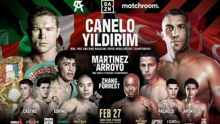 Apuestas Canelo Álvarez vs Avni Yildirim 27/02/2021 Boxeo